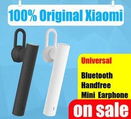 Wholesale 100 Original authentic original XIAOMI bluetooth headset wireless MI headphone earphone with microphone handsfree