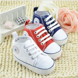 Wholesale New Infant Toddler Newborn Baby Shoes Unisex Kids Classic Sports Sneakers Bebe Soft Bottom Anti slip T tied Shoes Colors hight quality free