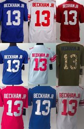 Wholesale New York Odell Beckham Jr Blue White Red Green Salute To Service Men s Women s Kid s ELITE GAME LIMITED All stitched Jerseys