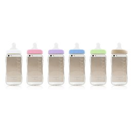 Novelty Design Cell Phone Cases Baby Milk Bottle with Transparent Phone Cover for iphone 6s 6plus 5s 19
