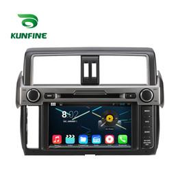 Descuento consola gris Jugador de la navegación del coche DVD GPS del coche del androide 5.1.1 de la base 1024 * 600 del patio para Toyota Nuevo Prado 2014 Radio 3G Wifi Bluetooth KF-V2225Q