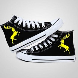 New Arrival Game of Thrones Logo Canvas Shoes,Outdoor Leisure Fashion Sneakers,Unisex Casual Shoes Hot Items