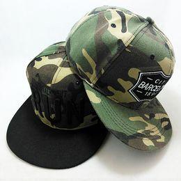 Wholesale-New Letter Camo Snapback Caps Hip Hop Men Fashion Camo Snapback Hats For Women Baseball Caps Brand Camo Polo Hats Men Cap Camo
