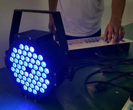 Free shipping Cast aluminium 54*3W LED Flat Par Cans Aluminium Tri color DMX LED Stage Lighting