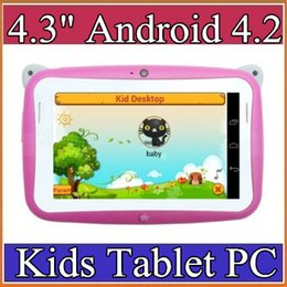 Wholesale 4 inch Android OS Kids Tablet PC for Children with Wifi Dual Camera RK2926 CPU RAM GB ROM tablet pc for Kids Gift B QPB