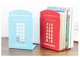 Wholesale 45set set Modern metal book shelf Classical London Street Red Telephone Booth Design bookshelf for home decoration ZA0592