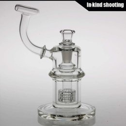 Wholesale 7MM Height quot Mobius Glassworks Atom Matrix Bubbler with Matrix Perc bong water pipes bongs oil rigs glass bongs rigs dab bowls for bongs