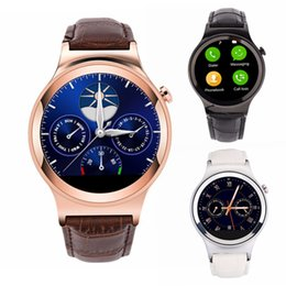 Wholesale New Stainless Steel NO S3 Luxury Men s Business Smart Watch Leather Band MTK2502 Blueooth Smartwatch Heart Rate Monitor