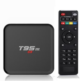 Wholesale Box T95M K Smart Tv Kodi android tv box Amlogic S905 GHz WIFI XBMC Android Quad Core Mali LED display