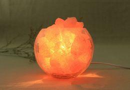 Wholesale Salt Lamp Material composition Binghua glass imported crystal salt European decorative small desk lamp creative lamp night