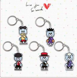 Wholesale 20pcs bigbang member cartoon acrylic keychain keyring