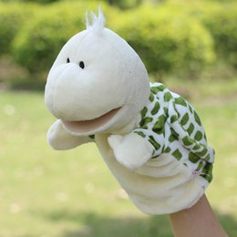 Wholesale Children Hand Puppet kids doll baby infant plush Stuffed Toy Turtle big mouth Puppets toys Christmas birthday gift
