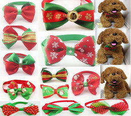 200pcs lot Christmas Holiday Pet Puppy Dog Cat Bow Ties Cute Neckties Collar Accessories Grooming Supplies P08