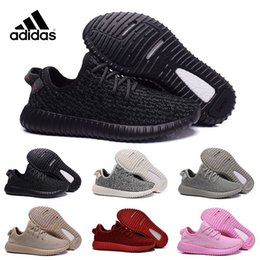 Wholesale Adidas Original Kanye West Yeezy Boost Pirate Black Low Sports Running Shoes Women Men Sneakers Training Yeezy Boost Eur36