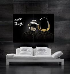 Daft Punk Poster print wall art 8 parts giant huge Poster print art free shipping NO4-521