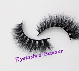 Wholesale akeup Tools Accessories False Eyelashes 1pcs D009 real siberian mink fur false eyelash individual D strip mink las