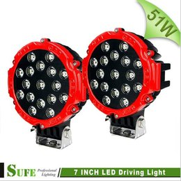 Wholesale SUFE Inch W LED Driving light Spot Flood Beam Truck SUV ATV Boat Machine Work Fog Lamp Off road WD V V IP67
