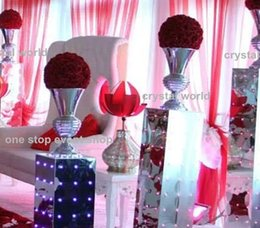 sliver flower stand Ostrich feather decoration wedding centerpieces