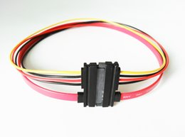 Wholesale Male to Female Pin Serial ATA PIN SATA Data power combo extension Cable M F P Whole sale
