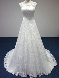 Wholesale 2016 New popular high end marriage wedding lace round neck trailing strap drain back big bow wedding dress code