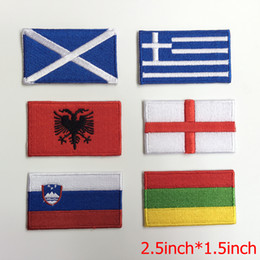 Rio de JaneiroOlympic Game The European country's flag embroidery patches iron on backing to T-shirt clothes patch