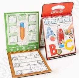Wholesale 6 design KKA205 Melissa Doug Water children s Sketchpad Album water Bundle Paint Board Coloring Books Doodle Baby Toys