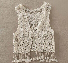 Girl Vest Retro Lace Hollow Tassels Cardigan Fashion Sweater Coats Children Clothing 9901