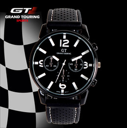 Wholesale 2016 GT watch Racing Mens Sports Watches Luxury Brand Grand Touring GT Watch Silicone Mens Army Quartz Military Wristwatch Women Fashion