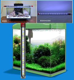 Wholesale Aquarium Fish Tank LED Light Blue White CM Bar Submersible Waterproof Clip Lamp Decor Dimmable EU Plug