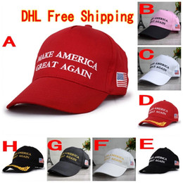 Wholesale 120Pcs Make America Great Again Hat Donald Trump Republican Snapback Sports Hats Baseball Caps USA Flag Mens Womens Fashion Cap F765
