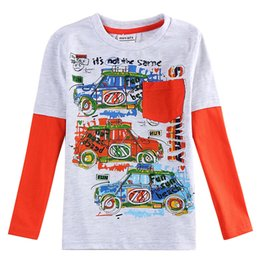 Wholesale 2016 fashion Boy s long T shirts for children to go out fall or spring many cars picture on it