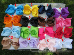 """New 6"""" 15cm Kids Girls big Hair bow clip 16 colors screw thread Bow Hairpin cotton Duckbill clip for baby Barrettes Hair Accessories"""