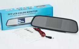 Wholesale Car Styling inch Car Rear View Mirror Car Monitor Display for Rearview Reverse Backup Camera Car TV Display