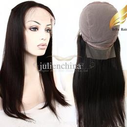 Cordón lleno recta superior de seda en Línea-Las pelucas de pelo humano superior de seda de encaje completa pelucas 8 ~ 26inch recto sedoso Negro de alta calidad de seda de la base de transporte 4 * 4 pelucas de pelo de DHL