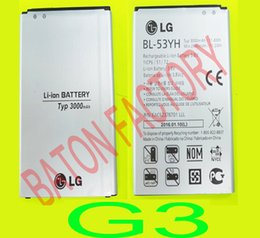 Wholesale Hight quality LG G3 BL YF Replacement Battery For LG G3 H818 mAh Mobile Phone Li ion Batteries For G3 Best Quality