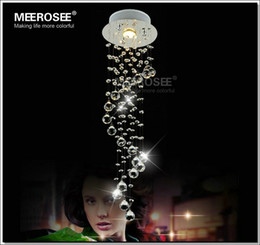 Wholesale Sprial Crystal Chandelier Light Modern Crystal Light Lamp for Aisle Porch Hallway Stairs with GU10 Light Bulb Guarantee
