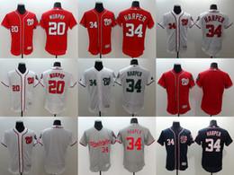 Wholesale Men s Elite Washington Nationals Bryce Harper Daniel Murphy Anthony Rendon Stitched Baseball Jerseys