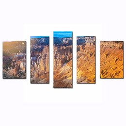 Wholesale LK5129 Panels Modern Canvas Painting Wall Art The Picture For Home Decoration Sunrise At Bryce Canyon National Park Utah United States Of