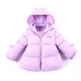 Wholesale Cute Baby Coats For Girls - 2017 New Arrival Cute Princess down coat Jackets Warm Hoodies Winter Jackets for Baby girls kids clothing Children lightness zipper MC0340