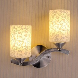 Wholesale 1 pair Contemporary and contracted glass chimney wall lamp Staircase corridor wall lamp decoration Household bedroom wall lamp