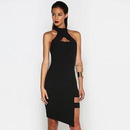 2016 Sexy Party Night Club Women Dress Halter Backless Runway Dresses Black Elegant Patry Slim Bandage Dress Free Shipping Q101