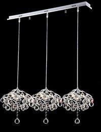 Wholesale K9 Crystal Single Pendant - Creative K9 crystal dining Pendant with single head modern 3 LED restaurant lamp pendant lamp crystal chandeliers
