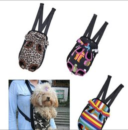 Wholesale Dropshipping Any Size Color Nylon Pet Puppy Dog Carrier Backpack Front Tote Carrier Net Bag Sizes S M L Dog Carrier Dog Cat Bag