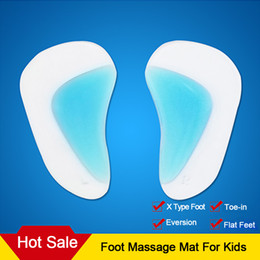 Wholesale 2Pcs Pair Kid Adult Flat Feet Orthotic Arch Support Shoe Insole Gel Pads Pain Relief Blue Apricot Foot Massage Mat MH021