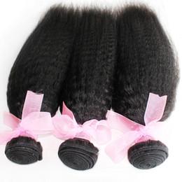 Promotion peut teindre remy extensions de cheveux gros cheveux 8A remy tisse 3bundles cheveux tout droit brésilien couleur naturelle peuvent être teints / extension de cheveux crépus du lot péruvien indien malaisien