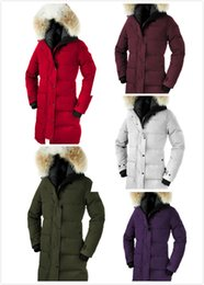 Wholesale Synthetic Flowers L - C-008 E33 Hot Sale Brand Goose Women's SHELBURNE parka Fashion Down Jackets Winter Warm Thick Down Jacket Coats Hooded Fur Colla