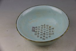 Wholesale Your kiln porcelain lohan plated with gold antique old porcelain bowl of antiques
