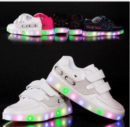 Children Shoes With Light Boys And Girls Casual LED Shoes For Kids Good Quality LED Light Up Usb 4 Colors Kids Shoes
