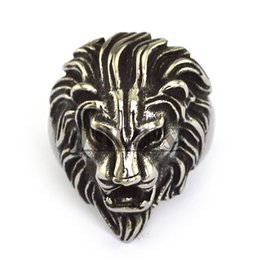 Free Shipping Personalized Lion Ring For Men Punk Rock Fashion Animal Jewelry Hight Quality Stainless Steel Ring
