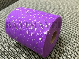 Wholesale Retail inch Yards Glitter Tulle Rolls DIY Shining Mesh Matt Tulles Wedding Tutu Dress Fabric colors